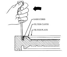 filter press cloth change instructions
