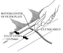 filter press cloth change instructions plate