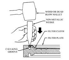 filter press cloth change instructions 2