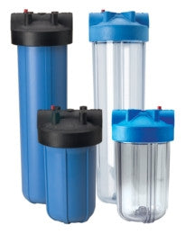 Big Blue, Big White & Big Clear Plastic Cartridge Housings