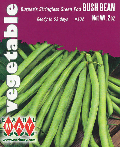 Burpee's Stringless Green Pod Bush Bean Seeds