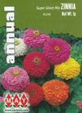 Super Giant Mix Zinnia Seeds