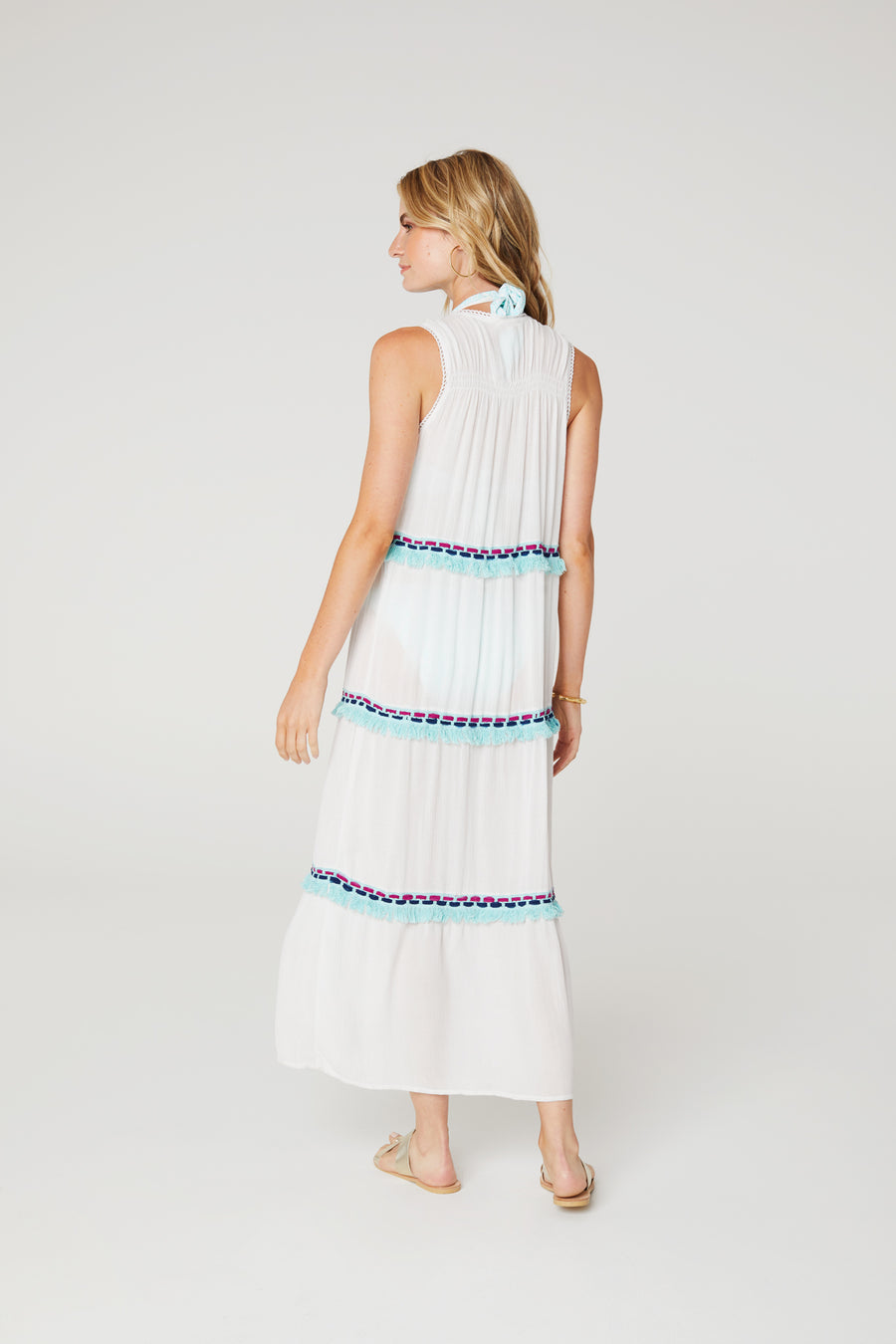 Fringe Tiered Maxi Dress