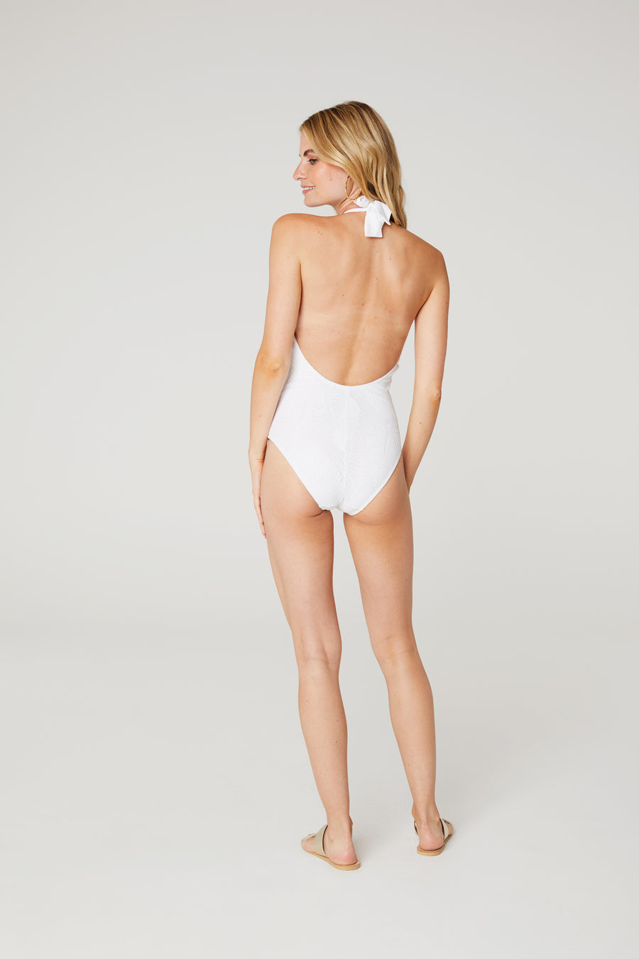 Palm Lace One-Piece With Shell
