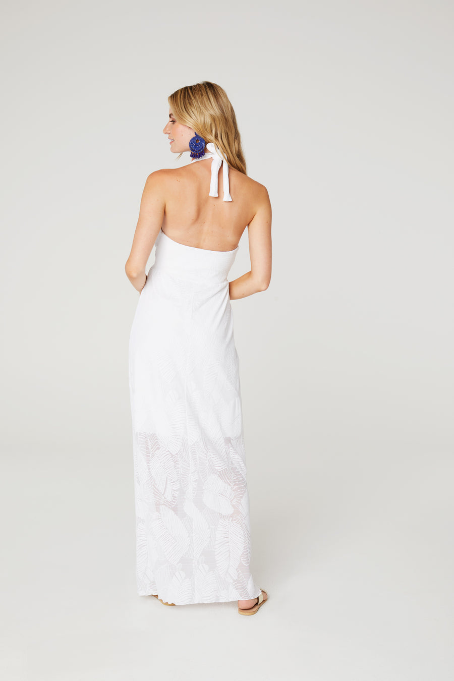Palm Lace Maxi Dress