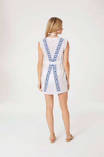 Pintuck Embroidered Coverup