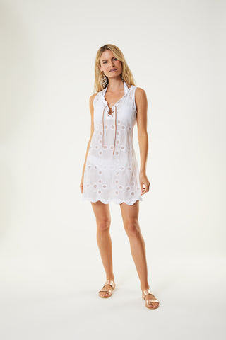 Sleeveless Doily Dress