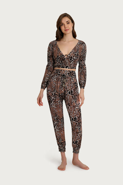 Baja Leopard High Waisted Jogger