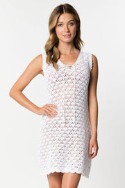 Sleeveless Crochet Dress