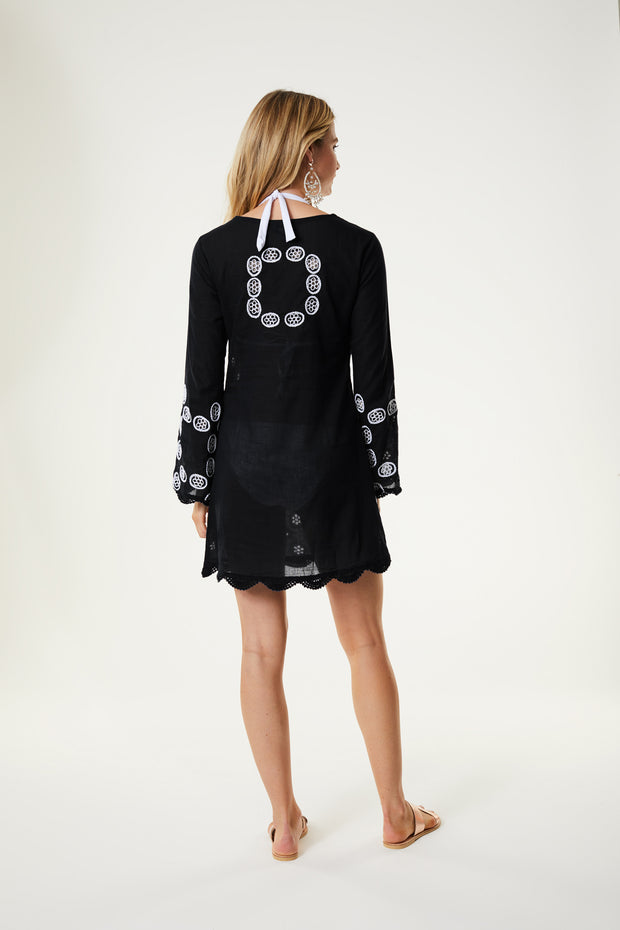 Long Sleeve Doily Dress
