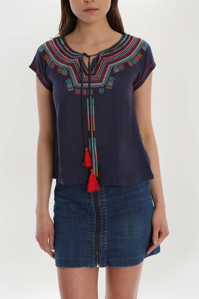 Tulum Embroidered Top