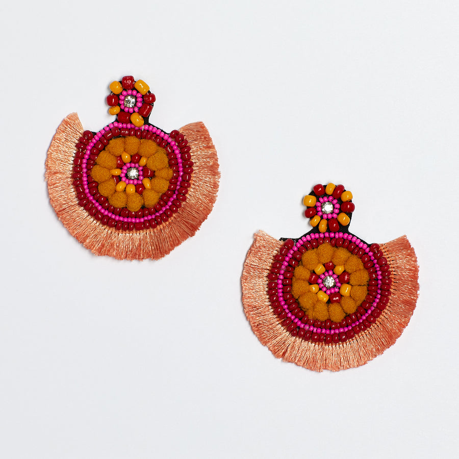 Sunset Fringe Fan Earring