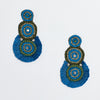 Ocean Blue Tiered Earring