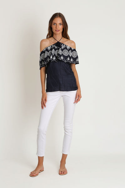 Bungalow Blue Top