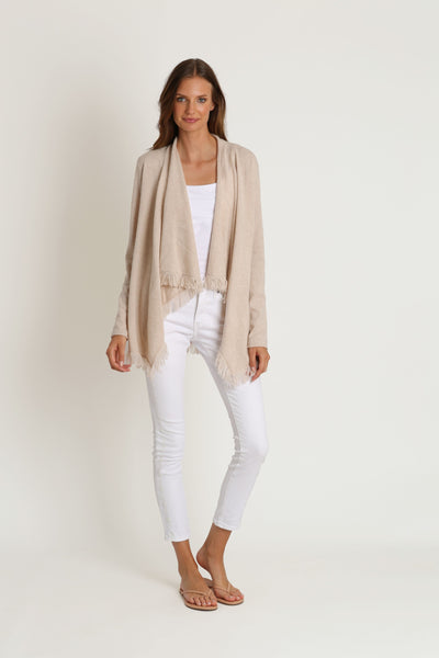Wheat Open Cashmere Sweater
