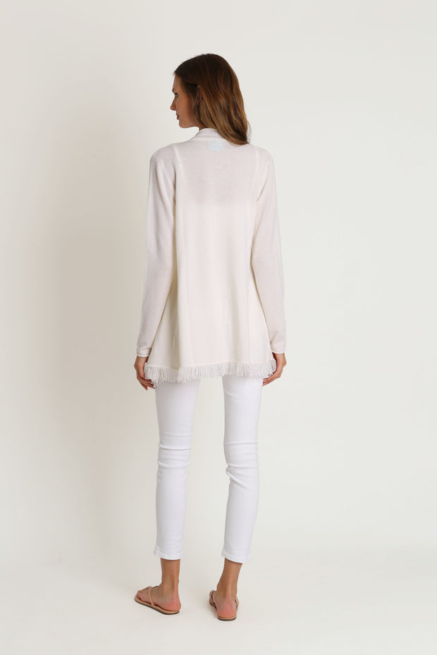 Chalk Open Cashmere Sweater