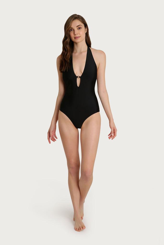 Laguna Palm Lace Halter One Piece
