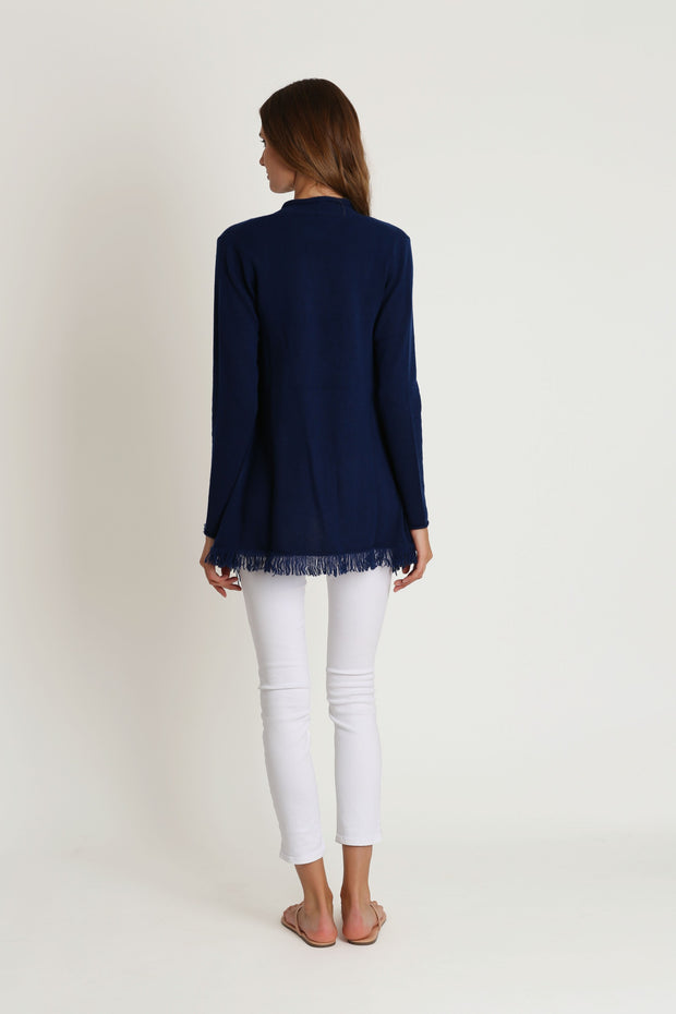 Midnight Open Cashmere Sweater