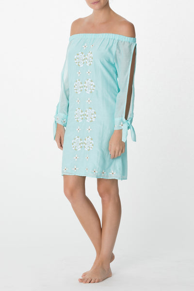 Embroidered Off-The-Shoulder Dress