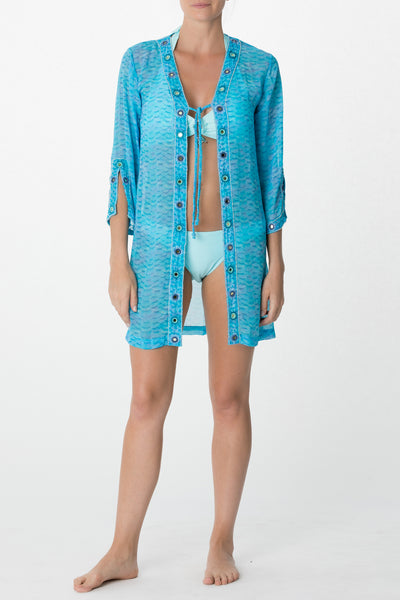 Printed Tie Front Tunic