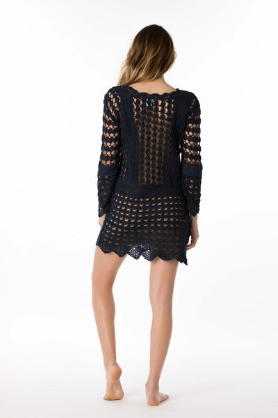 Crochet Long-Sleeve Cover Up