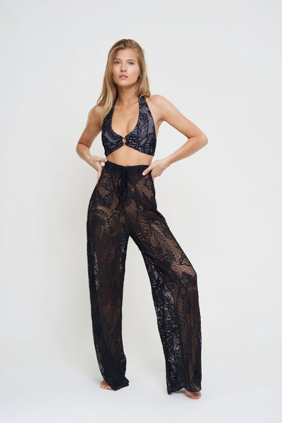 Palm Lace Beach Pant
