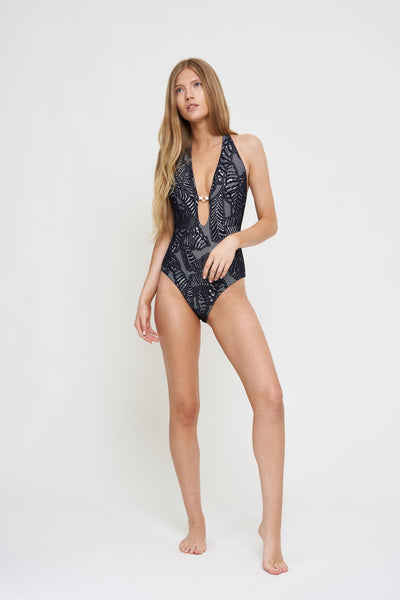Palm Lace One Piece
