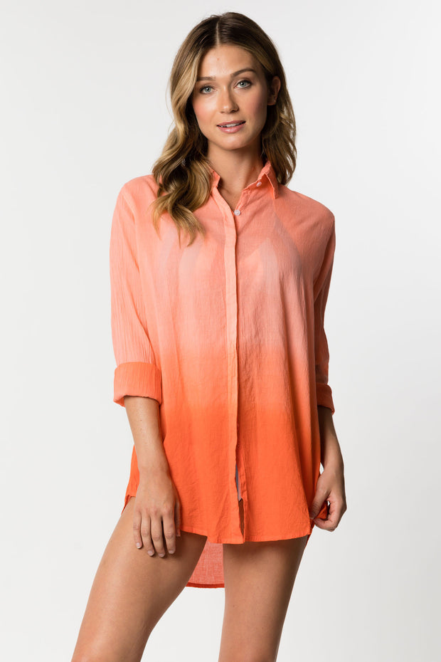 Hot Coral Beach Shirt