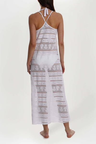 Pineapple Lace Maxi Dress