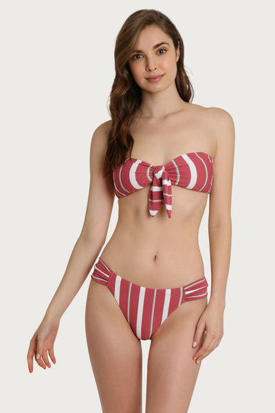 Nambia Striped Textured Bikini Bottom