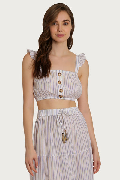 St. Barts Striped Crop Top