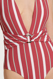 Wyoming Textured Stripe One Piece