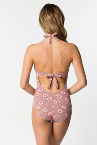 One-Piece Swimsuit With Ring