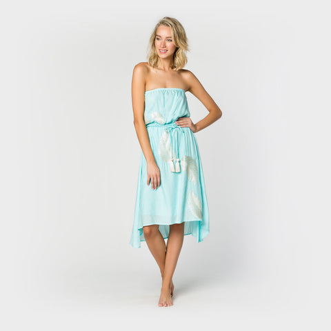 Strapless Belted Dress