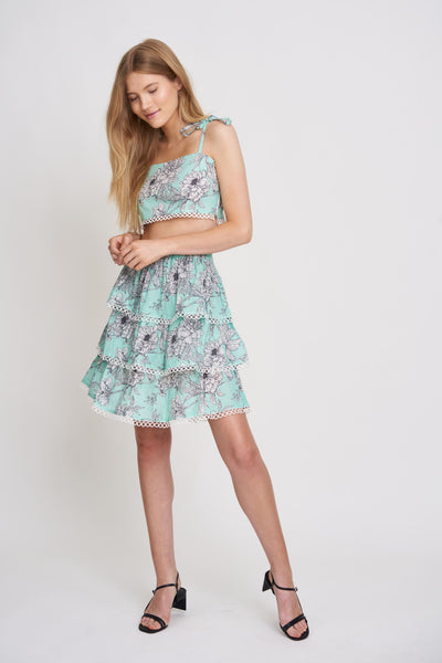 Cenotes Floral Tiered Skirt