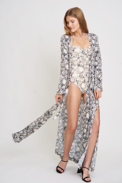 Snakeskin Floral Pisco One Piece