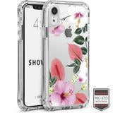 IPHONE XR - SHOWCASE CLEAR FLORAL ANTHURIUM 40-0007001 - Accesorios y repuestos Celular Cellairis