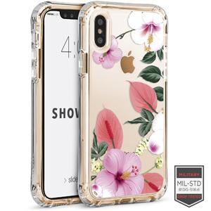 IPHONE X/XS - SHOWCASE CLEAR FLORAL ANTHURIUM 40-0009001 - Accesorios y repuestos Celular Cellairis