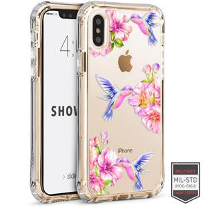 IPHONE X/XS - SHOWCASE CLEAR FLORAL HUMMINGBIRD 40-0009007 - Accesorios y repuestos Celular Cellairis