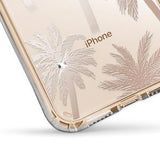 IPHONE X/XS - SHOWCASE CLEAR FLORAL PALM TREE WITH CRYSTALS 40-0009009 - Accesorios y repuestos Celular Cellairis