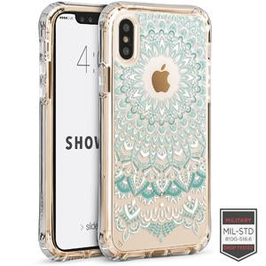 IPHONE X/XS - SHOWCASE CLEAR HENNA TURQUOISE 40-0009026 - Accesorios y repuestos Celular Cellairis