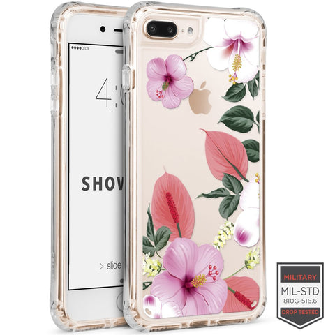 IPHONE 7 PLUS /8 PLUS - SHOWCASE CLEAR FLORAL ANTHURIUM 40-0012001 - Accesorios y repuestos Celular Cellairis
