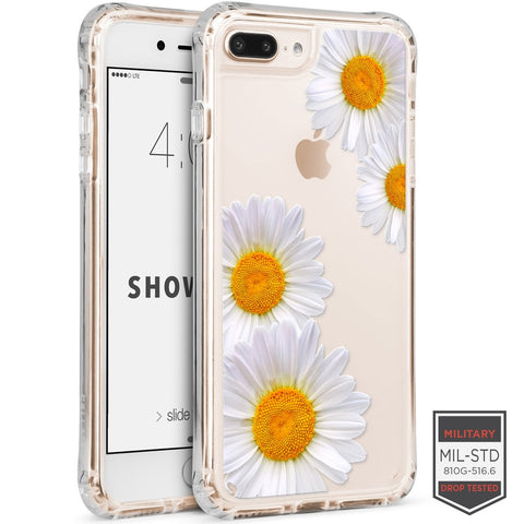 IPHONE 7 PLUS /8 PLUS - SHOWCASE CLEAR FLORAL DAHLIA 40-0012005 - Accesorios y repuestos Celular Cellairis