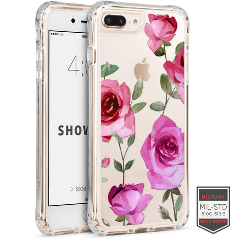 IPHONE 7 PLUS /8 PLUS - SHOWCASE CLEAR FLORAL ROSE 40-0012011 - Accesorios y repuestos Celular Cellairis