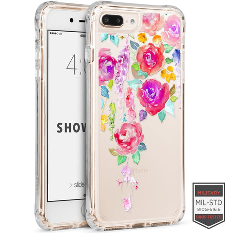 IPHONE 7 PLUS /8 PLUS - SHOWCASE CLEAR FLORAL VINE 40-0012013 - Accesorios y repuestos Celular Cellairis
