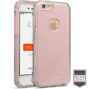 IPHONE 6/6S - RAPTURE CLEAR SILVER GLITTER/PINK 81-0010093 - Accesorios y repuestos Celular Cellairis
