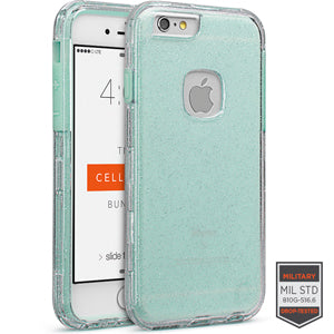 IPHONE 6/6S - RAPTURE CLEAR SILVER/AQUAMARINE GLITTER FINISH 81-0010094 - Accesorios y repuestos Celular Cellairis