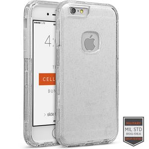 IPHONE 6/6S - RAPTURE CLEAR SILVER GLITTER/CLEAR 81-0010095 - Accesorios y repuestos Celular Cellairis