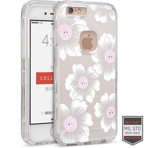 IPHONE 6/ 6S - RAPTURE CLEAR FLORAL CAMELLIA WITH CRYSTALS 81-0010111 - Accesorios y repuestos Celular Cellairis