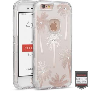 IPHONE 6/ 6S - RAPTURE CLEAR FLORAL PALM TREE WITH CRYSTALS 81-0010115 - Accesorios y repuestos Celular Cellairis